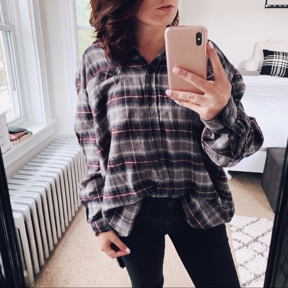 BDG Tops - BDG | Oversized Plaid Flannel Button Down Sz Large